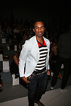 Dancer Desmond Richardson Front Row at Zang Toi Spring 2014 Fashion Show Held During Mercedes Benz Fashion Week NY