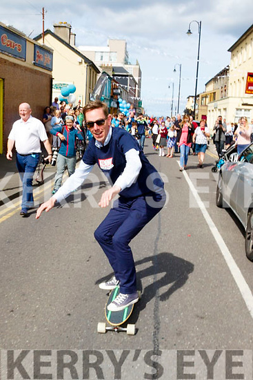 Ryan Tubridy skateboarding in Ballybunion on Wednesday.
