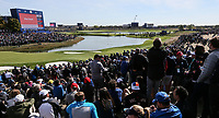 View of the 16th  during Saturday's Fourballs, at the Ryder Cup, Le Golf National, &Icirc;le-de-France, France. 29/09/2018.<br /> Picture David Lloyd / Golffile.ie<br /> <br /> All photo usage must carry mandatory copyright credit (&copy; Golffile | David Lloyd)