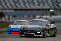 5-8 January, 2017, Daytona Beach, Florida USA<br /> 38, Porsche, Porsche Cayman GT4, GS, James Cox, John Tecce<br /> &copy;2017, Jake Galstad<br /> LAT Photo USA
