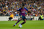 Ousmane Dembele of FC Barcelona attempts a kick during the La Liga match between Barcelona and Real Sociedad at Camp Nou on May 20, 2018 in Barcelona, Spain. Photo by Vicens Gimenez / Power Sport Images