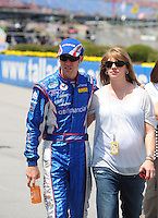 Apr 25, 2009; Talladega, AL, USA; NASCAR Nationwide Series driver Matt Kenseth with wife Katie Kenseth prior to the Aarons 312 at the Talladega Superspeedway. Mandatory Credit: Mark J. Rebilas-