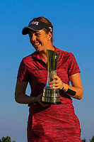 Georgia Hall (ENG) winner of the Ricoh Women's British Open at Royal Lytham &amp; St. Annes on Sunday 5th August 2018.<br /> Picture:  Thos Caffrey / Golffile<br /> <br /> All photo usage must carry mandatory copyright credit (&copy; Golffile | Thos Caffrey)