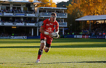 Caption Correction- Imanol Harinordoquy runs in unopposed to score the second try of the game for Toulouse - European Rugby Champions Cup - Bath Rugby vs Toulouse - Recreation Ground Bath - Season 2014/15 - October 25th 2014 - <br /> Photo Malcolm Couzens/Sportimage