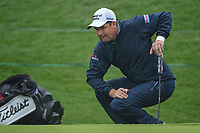 Padraig Harrington (IRL) looks over his birdie putt on 18 during day 3 of the Valero Texas Open, at the TPC San Antonio Oaks Course, San Antonio, Texas, USA. 4/6/2019.<br /> Picture: Golffile | Ken Murray<br /> <br /> <br /> All photo usage must carry mandatory copyright credit (&copy; Golffile | Ken Murray)