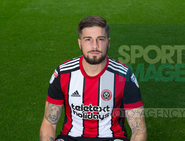 Kieron Freeman of Sheffield Utd during the 2017/18 Photocall at Bramall Lane Stadium, Sheffield. Picture date 7th September 2017. Picture credit should read: Sportimage