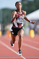 Ashton Purvis of Texas A&M competes in 100 meter prelims during West Preliminary Track and Field Championships, Friday, May 29, 2015 in Austin, Tex. (Mo Khursheed/TFV Media via AP Images)