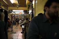 Cantina El Jarrito. Photos from night bike ride in Mexico City's historic center with Luis Mdahuar and Mike Smith.  Mexico DF, Tuesday May 1, 2007