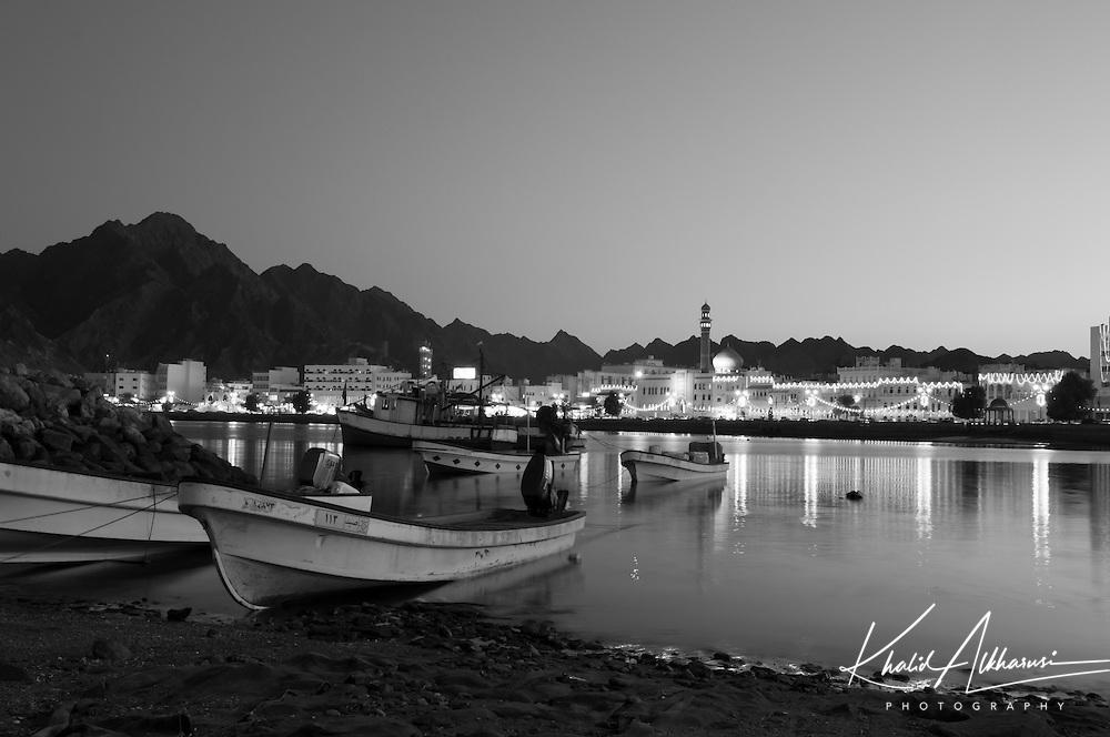 Mutrah Corniche at night, Muscat