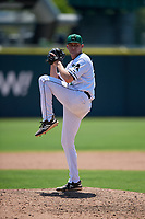 Augusta GreenJackets relief pitcher Keaton Winn (12) during a South Atlantic League game against the Lexington Legends on April 30, 2019 at SRP Park in Augusta, Georgia.  Augusta defeated Lexington 5-1.  (Mike Janes/Four Seam Images)