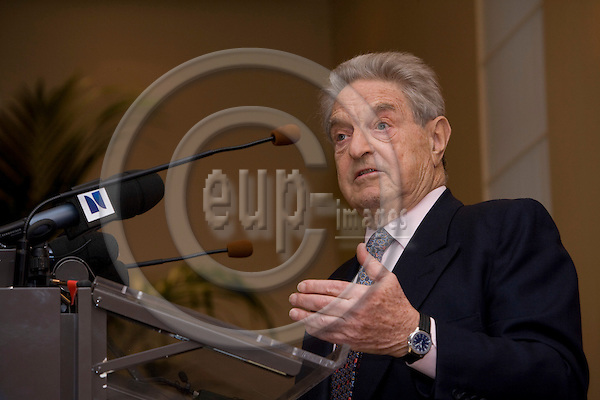 BRUSSELS - BELGIUM - 17 APRIL 2008 -- George SOROS, Chairman, Soros Fund Management. LLC, Founder, Open Society Institute, speaking at CEPS-event, The New Paradigm for Financial Markets: The Credit Crisis of 2008 and What It Means. Photo: Erik Luntang/EUP-IMAGES