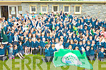 CELEBRATIONS: Kerry footballer Marc O? Se? joined pupils at the Nagle-Rice School in Milltown on Friday for the unveiling of their third Green Flag.GREEN: Kerry footballer Marc O? Se? joined staff and pupils at the Nagle-Rice School in Milltown on Friday for the unveiling of their third Green Flag.