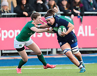2nd February 2020; Energia Park, Dublin, Leinster, Ireland; International Womens Rugby, Six Nations, Ireland versus Scotland; Rachel Malcolm (Scotland) hands off a tackle from Aoife Doyle (Ireland)