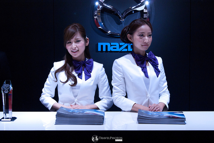 The Mazda information booth at the Nagoya Motor Show.