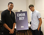 """Daniel Bellomy and Caleb Eberhardt during the MTC Broadway Cast Call for """"Choir Boy"""" at The MTC Rehearsal Studios on November 20, 2018 in New York City."""