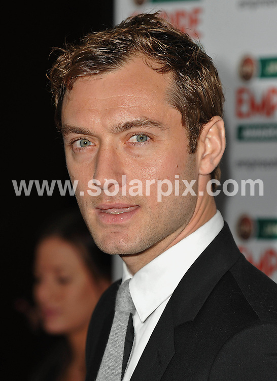 **ALL ROUND PICTURES FROM SOLARPIX.COM**.**WORLDWIDE SYNDICATION RIGHTS**.Red carpet arrivals at the Jameson Empire Awards 2010.  Held at Grosvenor House, Mayfair, London..This pic:  Jude Law..JOB REF:  10995     SSD     DATE: 28.03.2010.**MUST CREDIT SOLARPIX.COM OR DOUBLE FEE WILL BE CHARGED**.**MUST NOTIFY SOLARPIX OF ONLINE USAGE**.**CALL US ON: +34 952 811 768 or LOW RATE FROM UK 0844 617 7637**
