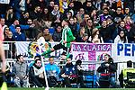Antonio Sarabia of Real Betis celebrates after scoring a goal during the match of Spanish La Liga between Real Madrid and Real Betis at  Santiago Bernabeu Stadium in Madrid, Spain. March 12, 2017. (ALTERPHOTOS / Rodrigo Jimenez)