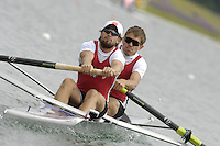 Munich, GERMANY, 2006, FISA, Rowing, World Cup, CAN M2- Bow, Malcolm Howard and Kevin Light.,  held on the Olympic Regatta Course, Munich, Thurs. 25.05.2006. © Peter Spurrier/Intersport-images.com,  / Mobile +44 [0] 7973 819 551 / email images@intersport-images.com..[Mandatory Credit, Peter Spurier/ Intersport Images] Rowing Course, Olympic Regatta Rowing Course, Munich, GERMANY
