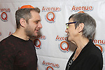 """Jeff Marx and Robyn Goodman attend the 'Avenue Q"""" 13th Anniversary and 3,QQQ Performance with Bar Mitzvah Party at the New World Stages on January 12, 2017 in New York City."""