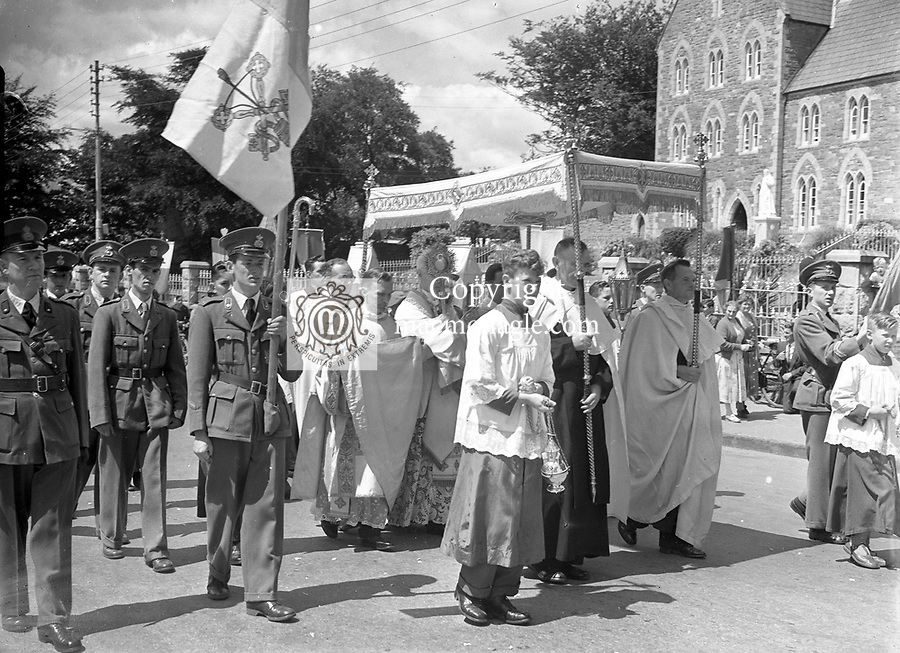 Corpus Christi Day Killarney in the 1950's..Picture by Harry MacMonagle