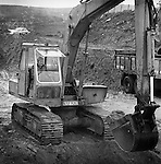 Former TD, Jackie Healy-Rae, pictured driving a digger in a pit in 1981. The Healy-Rae name is synonymous with plant hire.<br /> Picture by Don macMonagle Pictures to illustrate that jackie Healy-Rae died on December 5th 2014