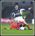 23/11/2002                   Copyright Pic : James Stewart.File Name : stewart-dundee v utd08.CRAIG EASTON GETS BOOKED AFTER BRINGING DOWN NEMSADZE....Payments to :-.James Stewart Photo Agency, 19 Carronlea Drive, Falkirk. FK2 8DN      Vat Reg No. 607 6932 25.Office     : +44 (0)1324 570906     .Mobile  : +44 (0)7721 416997.Fax         :  +44 (0)1324 570906.E-mail  :  jim@jspa.co.uk.If you require further information then contact Jim Stewart on any of the numbers above.........
