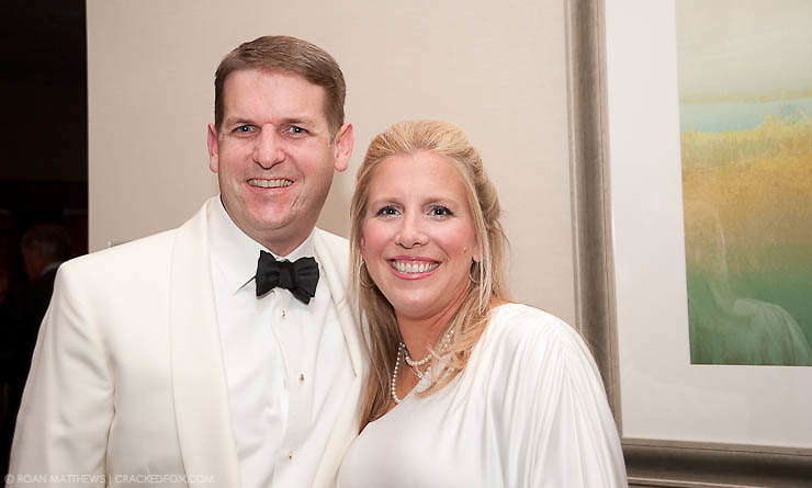 Houston Area Women's Center Board Chair Shawn Raymond with his wife Alicia Raymond at the 2011 Gala.