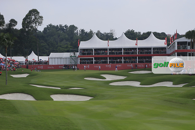 The approach to the 18th green during Round 4 of the CIMB Classic in the Kuala Lumpur Golf &amp; Country Club on Sunday 2nd November 2014.<br /> Picture:  Thos Caffrey / www.golffile.ie