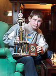 Stephen Meaney from Ennis, U-14 winner at this year's Munster Junior Chess Championships. Photograph by Declan Monaghan