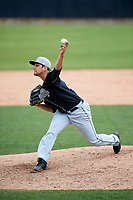 Lansing Lugnuts relief pitcher Dan Lietz (20) delivers a pitch during a game against the Clinton LumberKings on May 9, 2017 at Ashford University Field in Clinton, Iowa.  Lansing defeated Clinton 11-6.  (Mike Janes/Four Seam Images)