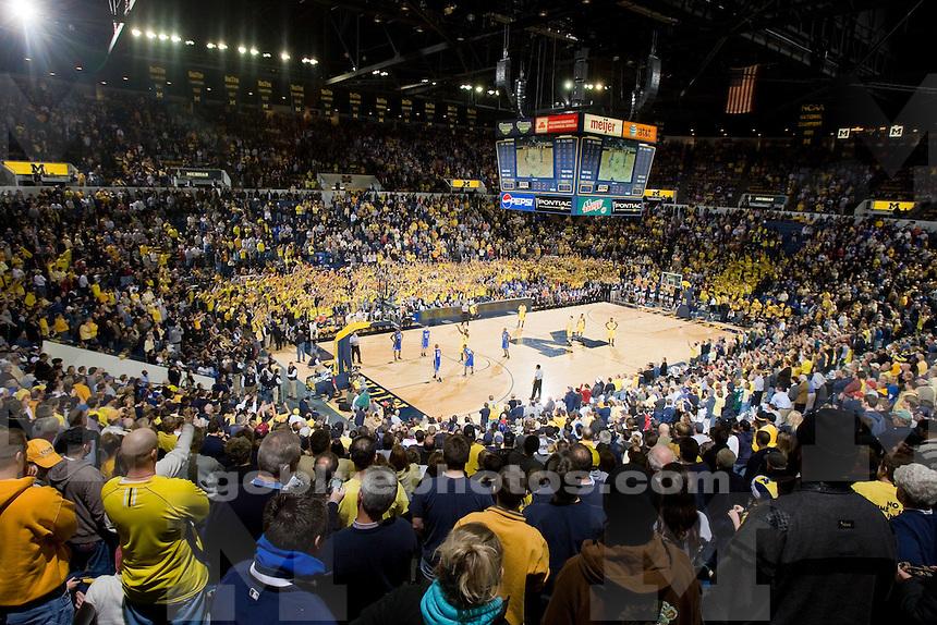 University of Michigan basketball (men) 81-73 victory over Duke at Crisler Arena  on 12/6/08.