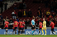18th November 2019; Wanda Metropolitano Stadium, Madrid, Spain; European Championships 2020 Qualifier, Spain versus Romania;  Fabian Ruiz (esp) celebrates his goal which made it 1-0 - Editorial Use
