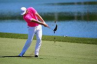 Jon Rahm (ESP) hits his approach shot on 2 during round 2 of the Shell Houston Open, Golf Club of Houston, Houston, Texas, USA. 3/31/2017.<br /> Picture: Golffile | Ken Murray<br /> <br /> <br /> All photo usage must carry mandatory copyright credit (&copy; Golffile | Ken Murray)