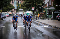 Team Deceuninck QuickS Step with Yves Lampaert (BEL) in front of the peloton. <br /> <br /> 99th Brussels Cycling Classic 2019<br /> One Day Race: Brussels > Brussels 189.4km<br /> <br /> ©kramon
