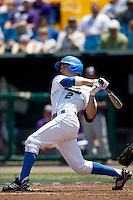 UCLA SS Niko Gallego in Game 13 of the NCAA Division One Men's College World Series on June 26th, 2010 at Johnny Rosenblatt Stadium in Omaha, Nebraska.  (Photo by Andrew Woolley / Four Seam Images)