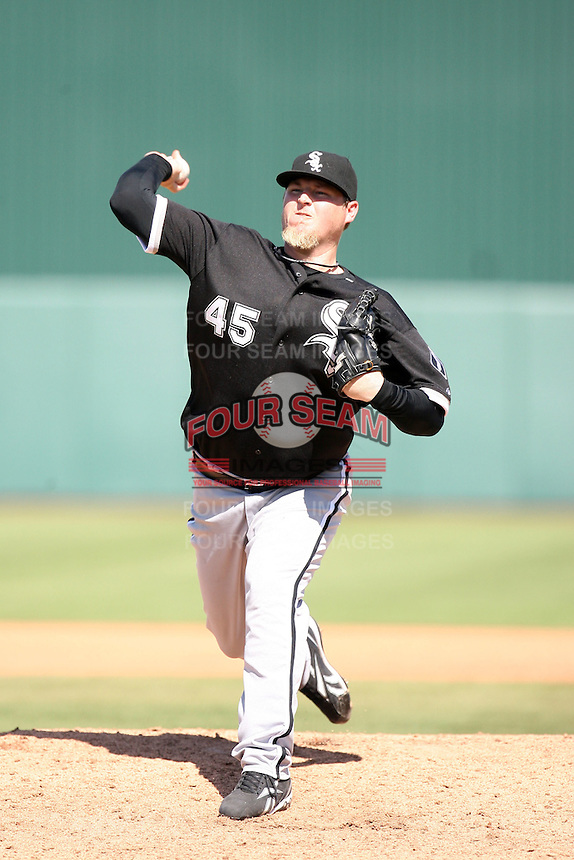 Bobby Jenks, Chicago White Sox 2010 spring training..Photo by:  Bill Mitchell/Four Seam Images.
