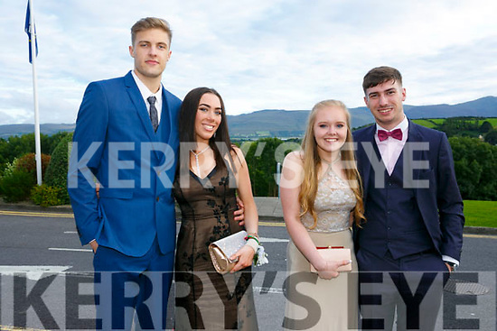 Enjoying the Killarney secondary schools Debs at Ballyroe Heights Hotel on Monday were Lukas Novikas, Darcey Desmond, Kelly Montgomery and Rory Carroll