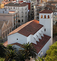 Parroquia de Santiago de Remolinos (Santiago de Remolinos Parish), or Parroquia de Sant Jaume, plaza de la Inmaculada, Tortosa, Tarragona, Spain. Picture by Manuel Cohen