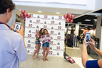 Orientation 2018: incoming students pose with props at photobooth in Colvard Union.<br />  (photo by Megan Bean / &copy; Mississippi State University)