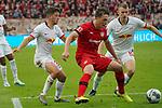 05.10.2019, BayArena, Leverkusen, GER, 1. FBL, Bayer 04 Leverkusen vs. RB Leipzig,<br />  <br /> DFL regulations prohibit any use of photographs as image sequences and/or quasi-video<br /> <br /> im Bild / picture shows: <br /> li Diego Demme (RB Leipzig #31),  im Zweikampf gegen  Julian Baumgartlinger (Leverkusen #15), <br /> <br /> Foto © nordphoto / Meuter