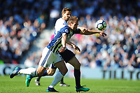 West Bromwich Albion's Craig Dawson vies for possession with Tottenham Hotspur's Fernando Llorente<br /> <br /> Photographer Ashley Crowden/CameraSport<br /> <br /> The Premier League - West Bromwich Albion v Tottenham Hotspur - Saturday 5th May 2018 - The Hawthorns - West Bromwich<br /> <br /> World Copyright &copy; 2018 CameraSport. All rights reserved. 43 Linden Ave. Countesthorpe. Leicester. England. LE8 5PG - Tel: +44 (0) 116 277 4147 - admin@camerasport.com - www.camerasport.com