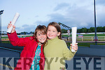 Jacinta Griffin and Julie Griffin from Killeen Height's Tralee enjoying a night at the dogs with their family at the Kingdom Greyhound Stadium on Friday night