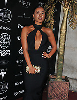 Kaz Crossley of Love Island at the 2018 Gumball 3000 Rally launch party, Proud Embankment, Victoria Embankment, London, England, UK, on Saturday 04 August 2018.<br /> CAP/CAN<br /> &copy;CAN/Capital Pictures