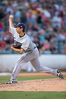 Columbus Clippers starting pitcher Toru Murata (17) delivers a pitch to the plate against the Charlotte Knights at BB&T BallPark on May 27, 2015 in Charlotte, North Carolina.  The Clippers defeated the Knights 9-3.  (Brian Westerholt/Four Seam Images)