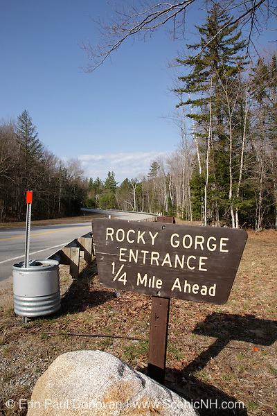 Rocky Gorge scenic area along the Kancamagus Highway (route 112), which is one of New England's scenic byways in the White Mountains, New Hampshire USA