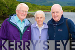 Pictured at Ross Castle ahead of the annual mass on Innisfallen Island, Killarney on Friday evening were Denis and Rose Switzer and Brendan Heaslip, Tralee...