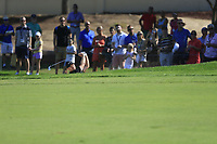Tom Lewis (ENG) on the 1st fairway during the 3rd round of the DP World Tour Championship, Jumeirah Golf Estates, Dubai, United Arab Emirates. 23/11/2019<br /> Picture: Golffile | Fran Caffrey<br /> <br /> <br /> All photo usage must carry mandatory copyright credit (© Golffile | Fran Caffrey)