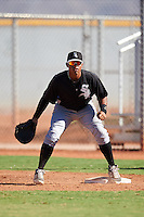 Chicago White Sox Harvin Mendoza (64) during an Instructional League game against the Cincinnati Reds on October 11, 2016 at the Cincinnati Reds Player Development Complex in Goodyear, Arizona.  (Mike Janes/Four Seam Images)