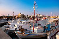 Local fishing boats in the port of Aegina, Greek Saronic Islands