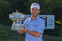 Kevin Kisner (USA) holds the Walter Hagen Trophy for winning the 2019 WGC Dell Match Play, at the Austin Country Club, Austin, Texas, USA. 1/1/2014.<br /> Picture: Golffile | Ken Murray<br /> <br /> <br /> All photo usage must carry mandatory copyright credit (&copy; Golffile | Ken Murray)